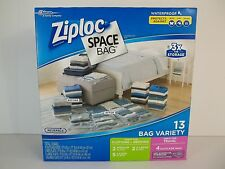 Ziploc 13 Space Saver Vacuum Seal & Roll-Up Space Bags Storage Set Ziplock NEW
