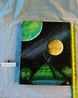 PLANET SPACE PAINTING by JB4 Original ART MODERN FANTASY Pop Contemporary