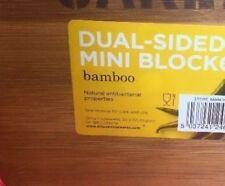 Mini Bamboo Dual Sided Cutting Chopping Board Garlic & Chilli 20.5cm x 15cm