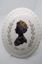 Coalport Queen Elizabeth II Silver Jubilee Silhouette Plaque 1977 Bone China