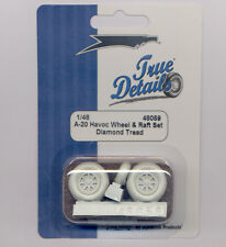 A-20 Havoc Resin Wheels, Diamond Tread, and Life Raft (1/48 True Details 48059)