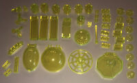 LEGO Lot Of 50 Translucent Neon Yellow Parts / Bricks / Windscreens
