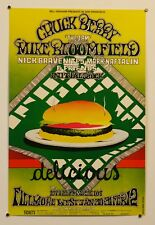 CHUCK BERRY / BLOOMFIELD - VINTAGE 1969 FILLMORE CONCERT POSTER - PSYCHEDELIC