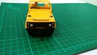 Vintage Britains Autoway Yellow Land Rover Defender Pick Up with driver Toy