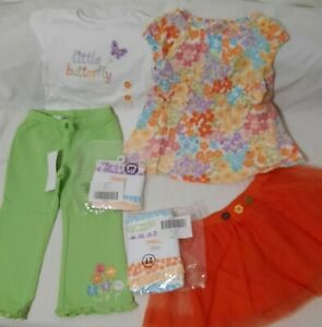 6 New us$123 tags designer girls size 2 items Gymboree Crazy8 mix and match sets