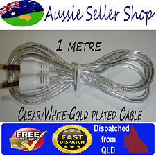 White 1 metre AUX Gold plated 3.5mm Cable Stereo Audio Cord Male to Male MP3