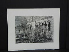 Picturesque Europe, Full Page Illustration #02 Cloister at Tongres, Belgium