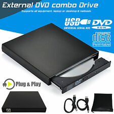 USB 2.0 External CD RW Drive Rom CD Writer Player For PC Laptop Netbook