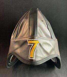 Pittsburgh Steelers #7 Ben Roethlisberger Faux Leather Helmet Hat Cap