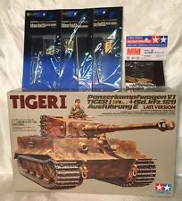 NEW Tamiya Tiger I Late Version Tank 1:35 Model Kit #35146 NOB 1989 EXTRAS