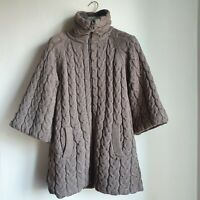 Emma&Gaia Woman Double-sided Long Down jacket Coat Size 42 Brown Grey Beige