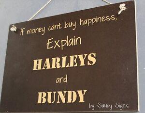 Harleys and Bundy Sign - Harley Davidson Bundaberg Rum Motorcycles  Bar Pub Shed