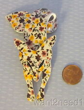 LEA STEIN PARIS CLASSIC LOOP TAIL FOX flower power retro floral calico pattern