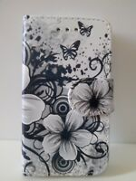 For Apple iPhone XR New Black Floral Butterfly Design Leather Wallet Case Cover