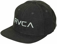 RVCA Sport Twill Snapback III Hat (Heather Charcoal/Silver)
