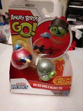Angry Birds Go playskool heroes roll'em &race'em BIG Red bird & helmet pig