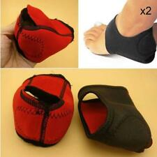 Pair Heel Arch Silicone Protective Plantar Fasciitis Therapy Wrap Arch Support D