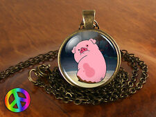 Gravity Falls Waddles Pig Vintage Handmade Fashion Necklace Pendant Jewelry Gift
