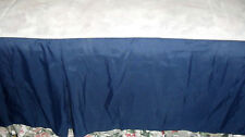 """Royal Blue Queen Size Bed Skirt 14"""" Drop - New"""