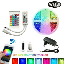 IR WIFI RGB LED Strip 5-20M 5050 30 Leds /M Flexible Lighting Controller Adapter