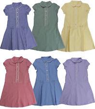 Girls School Gingham Dress Check Summer 3 - 13 years UK