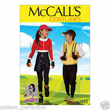 McCall's 7552 Sewing Pattern to MAKE Kids' 7-14 Jkt Hoodie Romper Pants Yaya Han