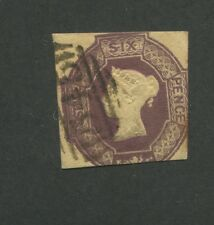 1854 Great Britain United Kingdom Queen Victoria 6 Pence Postage Stamp #7