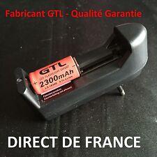 1 Pile Rechargeables 16340 3.7V 2300Mah GTL Li-ion Batteries + CHARGEUR - HOT