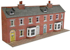 Metcalfe PN174 - Brick Terrace House Fronts Die Cut Card Kit N Gauge