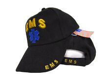 Embroidered Black EMS Emergency Medical Service baseball style Cap Hat