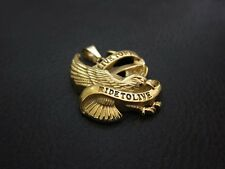 All GOLD Live to Ride Eagle Spirit Pendant Keychain for Harley Hell Angels Biker