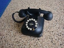 Retro Grand Phone Black Pottery Barn Tabletop Desk Corded Telephone