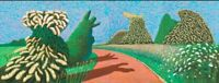 David Hockney may blossom on the roman road PICTURE canvas 16x30 inches wall Art