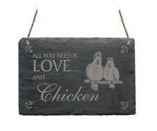 Schiefertafel « zwei HÜHNER » Schild Türschild Ei Huhn Chicken Hühnerstall Eier