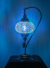 Turkish - Moroccan - Marrakech - Handmade Mosaic Lamp - Blue Color Lamp