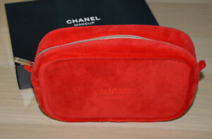 Compliment from Chanel beauty counter 2019 red velvet Chanel makeup bag NIB