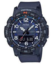 Casio Pro Trek * PRTB50-2 Quad Sensor Bluetooth Smartlink Blue Watch Men