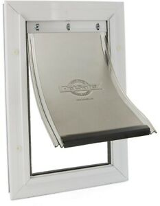 PetSafe Pet Door Flap X-Large Aluminum-Frame Wall Mount Lockable Transparent
