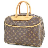 Authentic LOUIS VUITTON Deauville Monogram Hand Bag Purse #32417