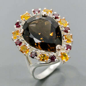 Wholesale jewelry Smoky Quartz Ring Silver 925 Sterling  Size 8.75 /R169786