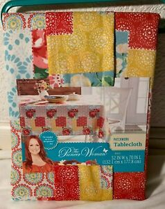 """NWT The Pioneer Woman Sweet Rose Patchwork 52"""" x 70"""" Tablecloth Multicolor"""
