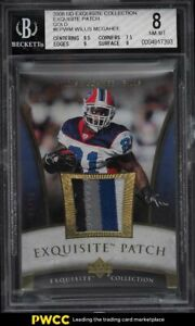 2006 Exquisite Collection Gold Willie McGahee PATCH /30 #EPWM BGS 8 NM-MT