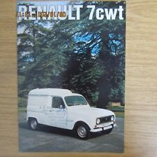 RENAULT 7cwt 7 cwt Van R2106 UK Market Original Sales Brochure 1975