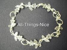 Pulseras de plata plateado linda flor encantos Fashion Jewellery JOBLOT 10