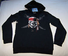 Pirates Of The Caribbean Ladies Printed Hoodie Size S New