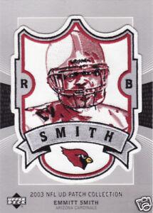 2003 EMMITT SMITH CARDINALS UPPER DECK NFL PLAYER PATCH
