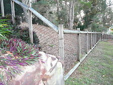 Black PVC Coated Chain Wire Mesh Fence 1.2m High X 15m Long 3.5mm Cyclone Link