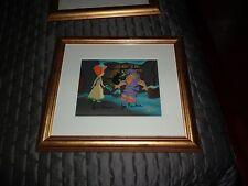 Framed Flintstones Christmas Carol:Scrooge and the Ghost Outside Cel