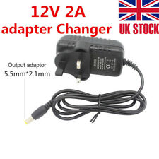 12V 2A AC to DC Adapter Charger Power Supply for LED light Camera UK Plug CCTV