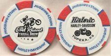"Historic Harley-Davidson® in Topeka, KS ""Evel Knievel"" Poker Chip Red/White/Blue"